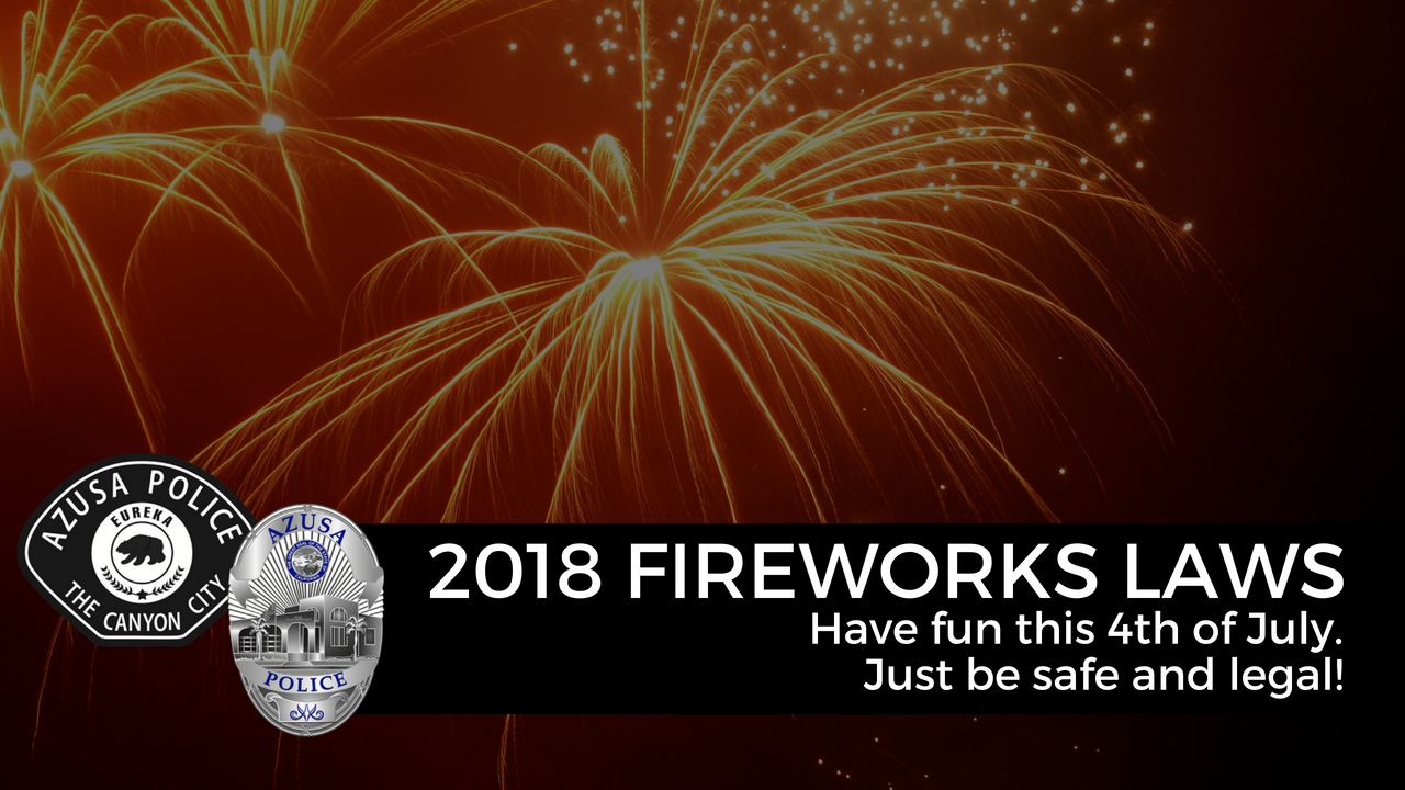 Image of 2018 Fireworks laws
