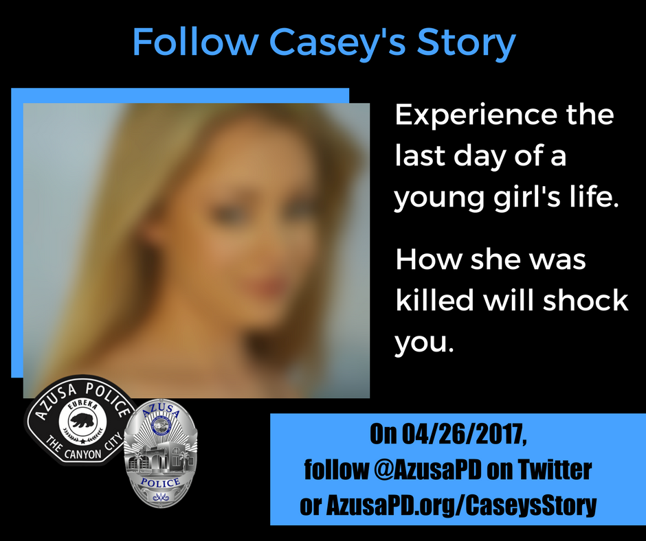 A Young Girl Was Tragically Killed A Few Years Ago. Azusa Police is Her Voice on Twitter