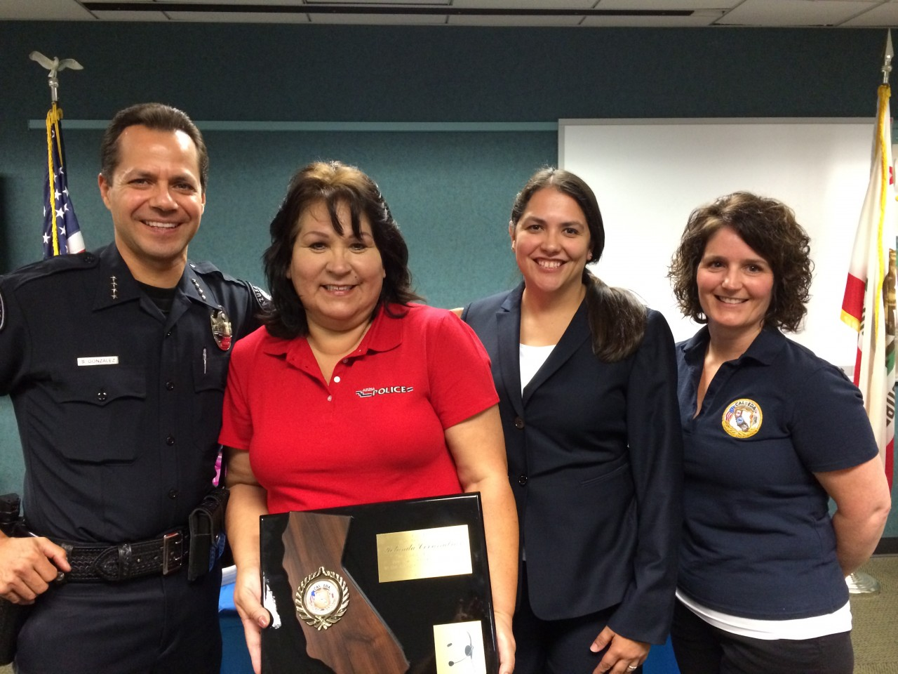 First Ever Award Given To Azusa Police Dispatcher