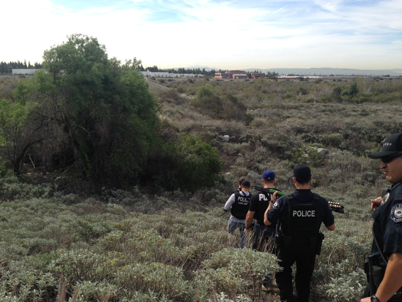 Azusa Police Contact Transients In The San Gabriel Riverbed