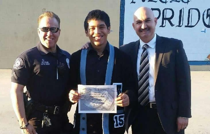 Azusa Police Department's Student of The Month