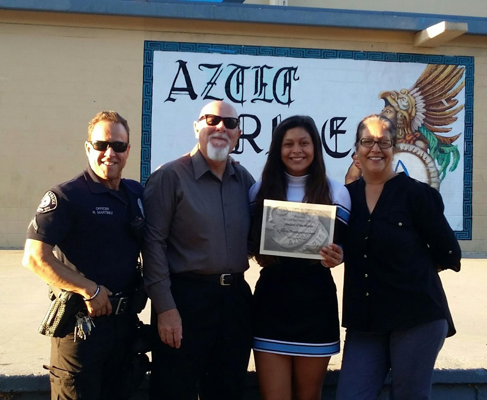Azusa High Student Receives First Ever SRO Student Of The Month Award