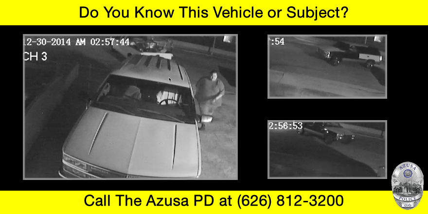 Information Wanted: Azusa Auto Theft Suspects