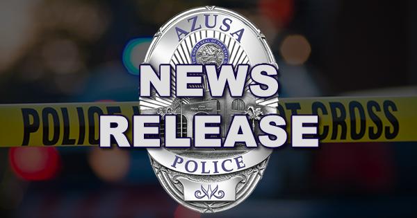 Azusa Police Arrest Suspect For Vehicle Burglary - Azusa Police
