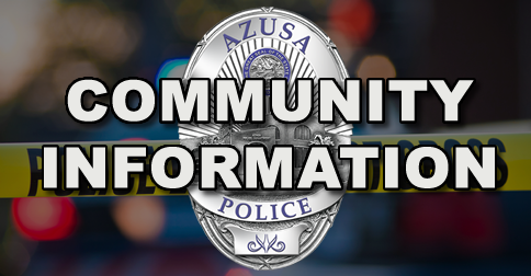 City of Azusa and Police Department to Host Community Open House