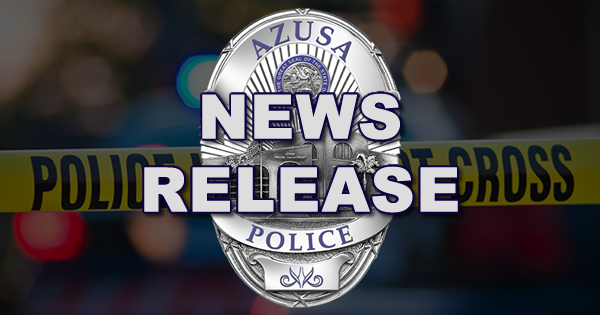 Azusa Police Arrest Suspect For Vehicle Burglary